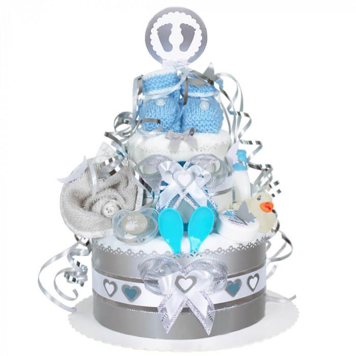 Mini Windeltorte Neutral Geschenk Zur Geburt Babygeschenk