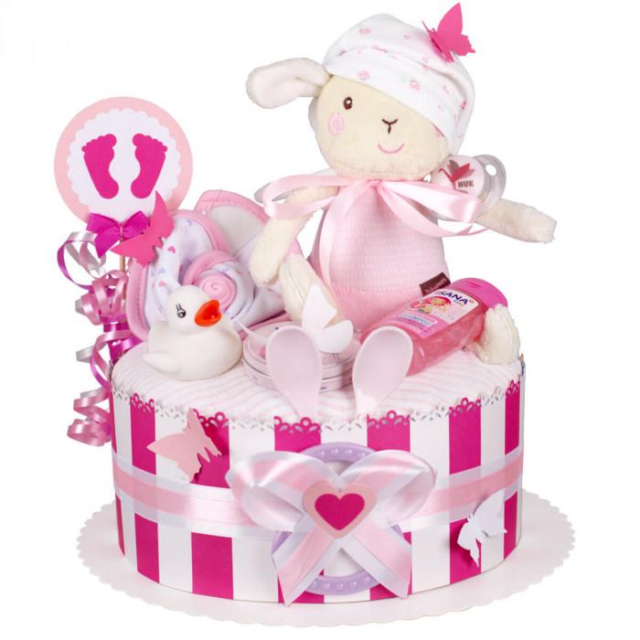 Windeltorte Mädchen 1214 Baby Geschenk Geburt Taufe Babyparty